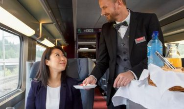 Fine dining TGV Lyria trains by LSG Group